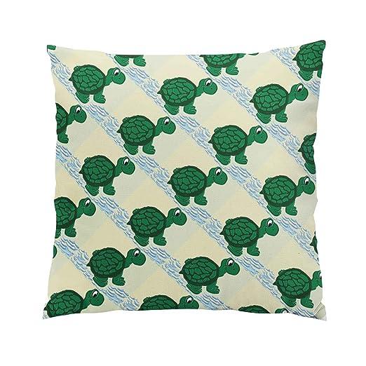 Gygarden Beauty Happy Turtle - Funda de cojín con Cremallera ...