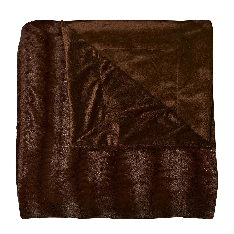 Amazon.com: Swift Home Micro-Mink King Faux Fur Blanket, Caramel ...