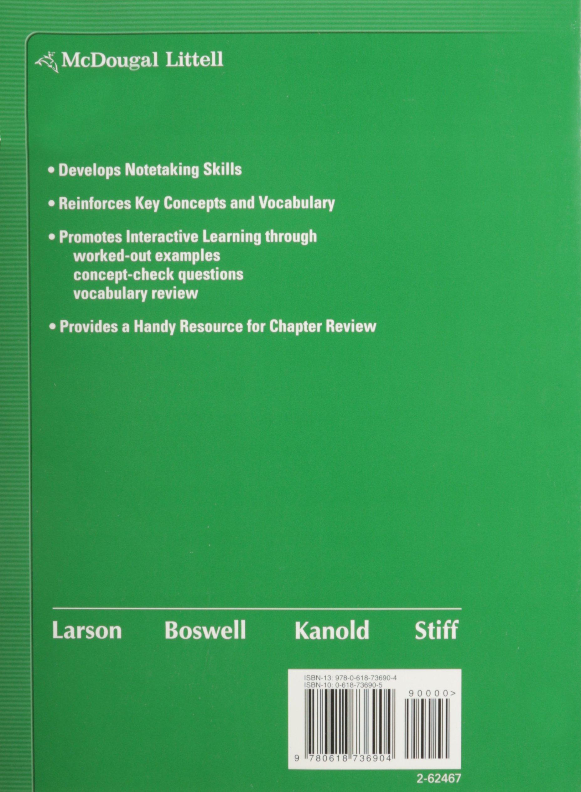 9780618741878: math course 2, grades6-8 notetaking guide: mcdougal.