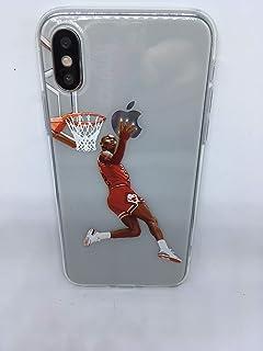 Funda Carcasa de Silicona iPhone X o iPhone XS Basketball Space ...