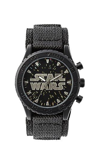 Star Wars STW1301 - Reloj de Pulsera Chicos, Nailon, Color Negro: Amazon.es: Relojes