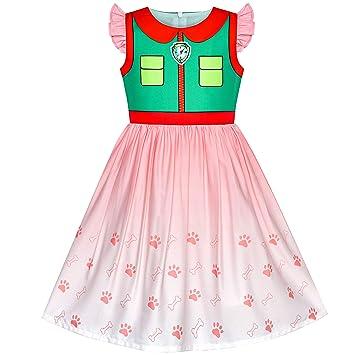 Sunny Fashion Vestido para niña Patrulla de la Pata Rastreador Cosplay Fiesta de Halloween 3 años