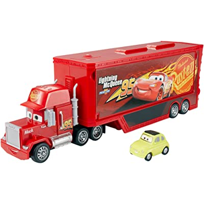 Disney Cars Mattel Disney/Pixar Cars Travel Mack Vehicle, Red (DXY87): Toys & Games