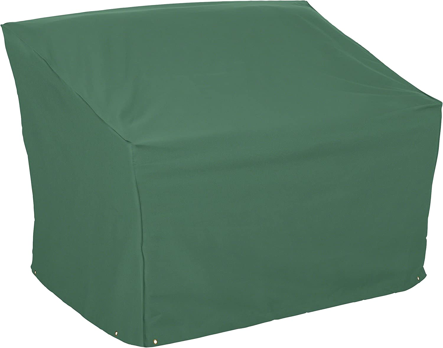 Classic Accessories 55-438-041101-11 Atrium Patio Bench Cover – Weather Water Resistant Patio Set Cover with UV Protection, Large, Green