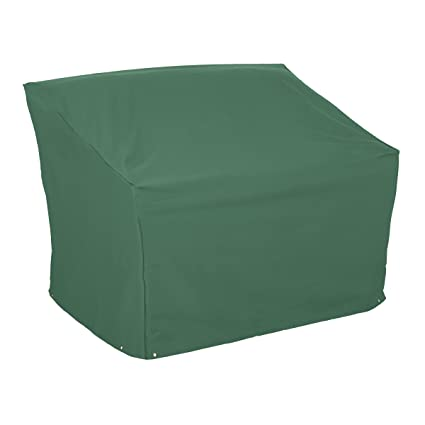 Classic Accessories Atrium Patio Bench Cover - Weather/Water Resistant Patio Set Cover with UV Protection, Large, Green (55-438-041101-11)