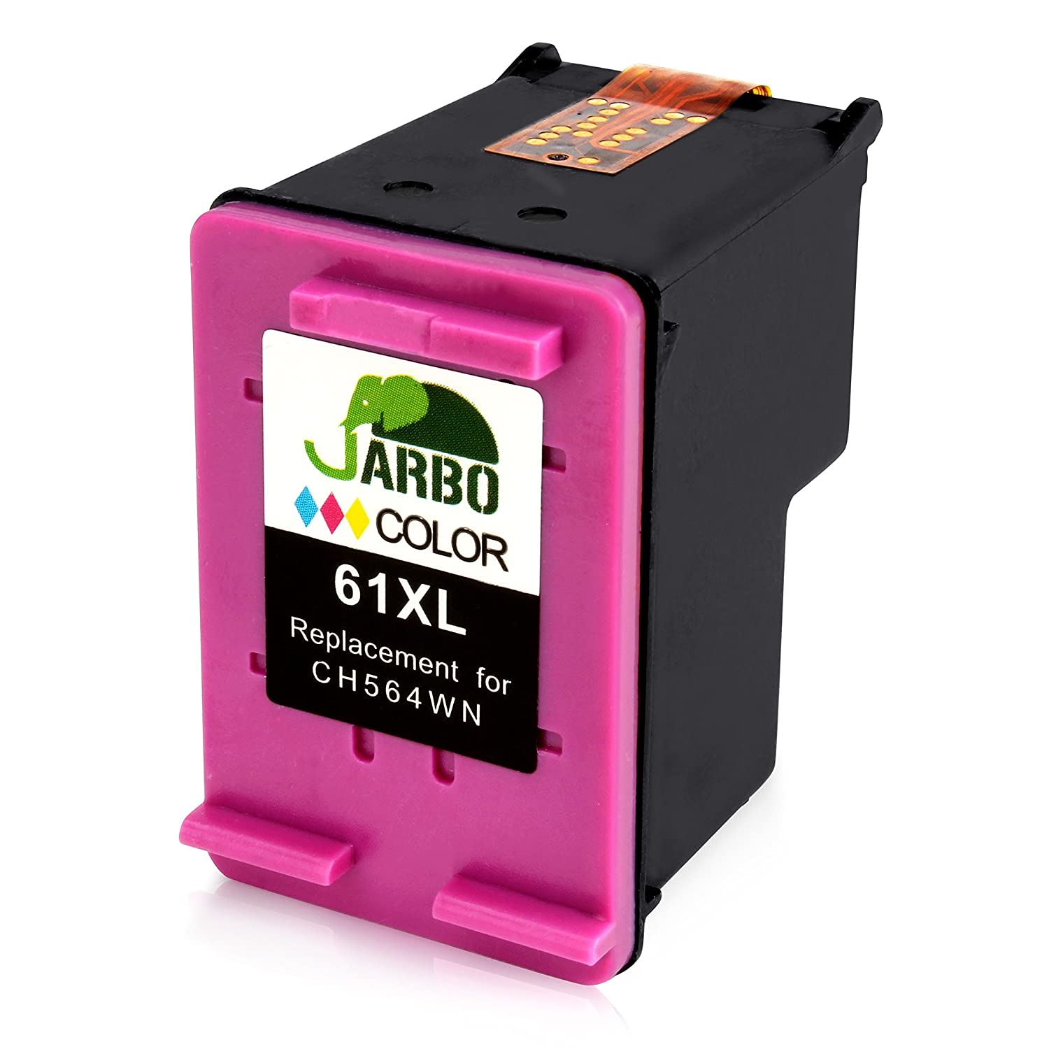 Amazon JARBO Remanufactured Ink Cartridge Replacement for 61XL High Yield 1 Black with Ink Level Display Used in Envy 4500 5530 5534 Deskjet 1000