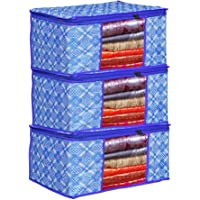 Bilfy Presents Non Woven Saree Cover Storage Bags for Clothes with primum Quality Combo Offer Saree Organizer for Wardrobe/Organizers for Wardrobe Pack of 3