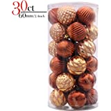 Valery Madelyn 30ct Woodland Shatterproof Christmas Ball Ornaments Decoration,60mm/2.36inch,30 Hooks Included, Themed with Tree Skirt(Not Included)
