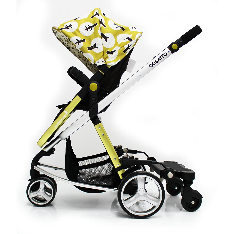 Baby Travel Stroller Pram Three Wheeler Buggy Board Kiddie Kiddy Board For Cosatto Giggle Black