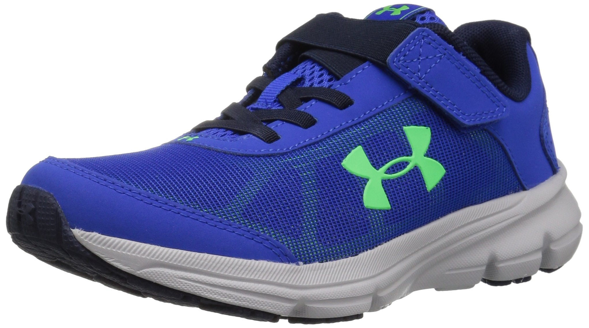 reputable site d6026 001c2 Under Armour Boys' Pre School Rave 2 Adjustable Closure Sneaker, Team Royal  (400