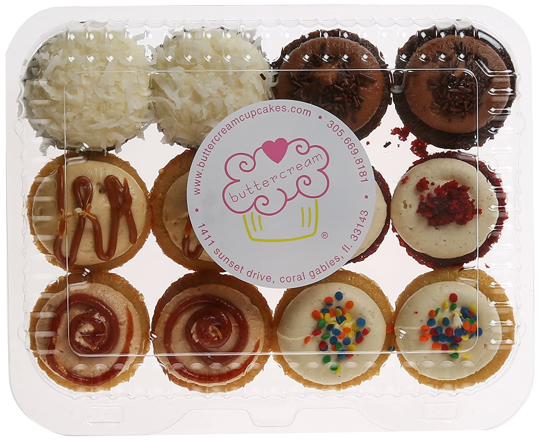 Buttercream Cupcakes, Classic Mini Favorites Miami Style, Minis/12 mini cupcakes: Amazon.com: Grocery & Gourmet Food
