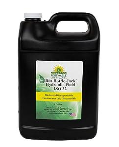 Renewable Lubricants - 81633 Bio-Bottle Jack ISO 32 Hydraulic Lubricant, 1 Gallon Jug yellow