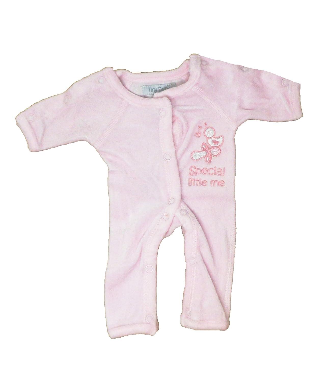 Baby Girls Pink Premature//Incubator Sleepsuit Tiny Princess Design