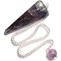 Péndulo cónico de cristal para radiestesia y sanación