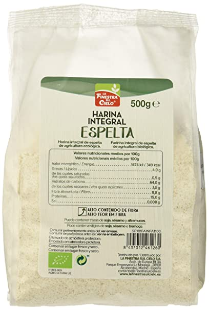 Harina integral de espelta - La Finestra sul Cielo - caja de 6 uds de 500