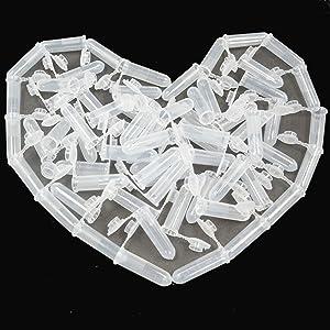 Bleiou 100pcs 2mL Plastic Vial Tube Sample Storage Container Fragrance Beads Liquid