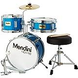 Mendini By Cecilio Kids Drum Set - Junior Kit w/ 4 Drums (Bass, Tom, Snare, Cymbal), Drumsticks, Drummer Seat - Beginner Drum