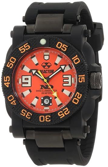 Reactor 73808 - Reloj para hombres, correa de goma color negro