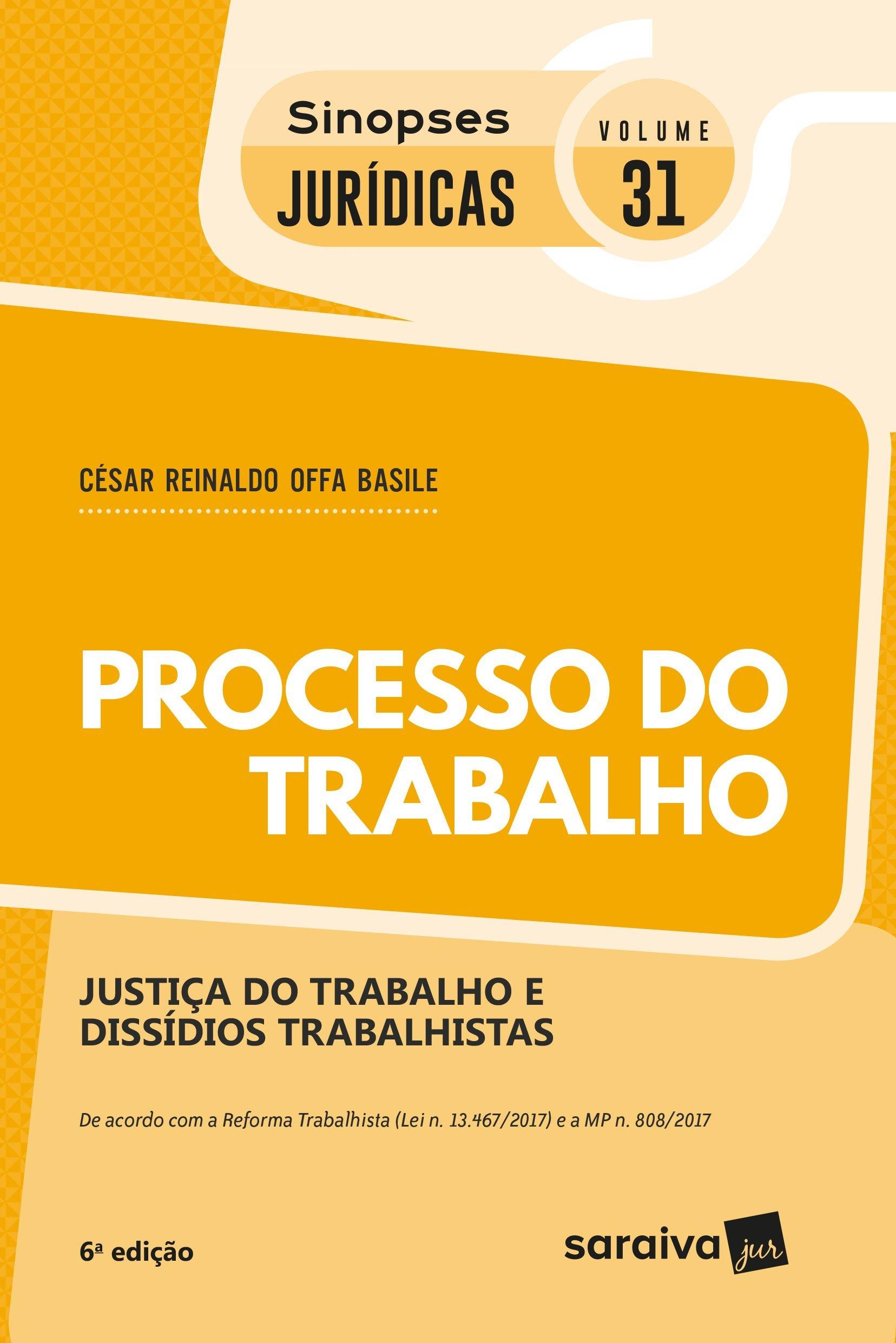 Download Processo do Trabalho - Coleção Sinopses Jurídicas 31 pdf