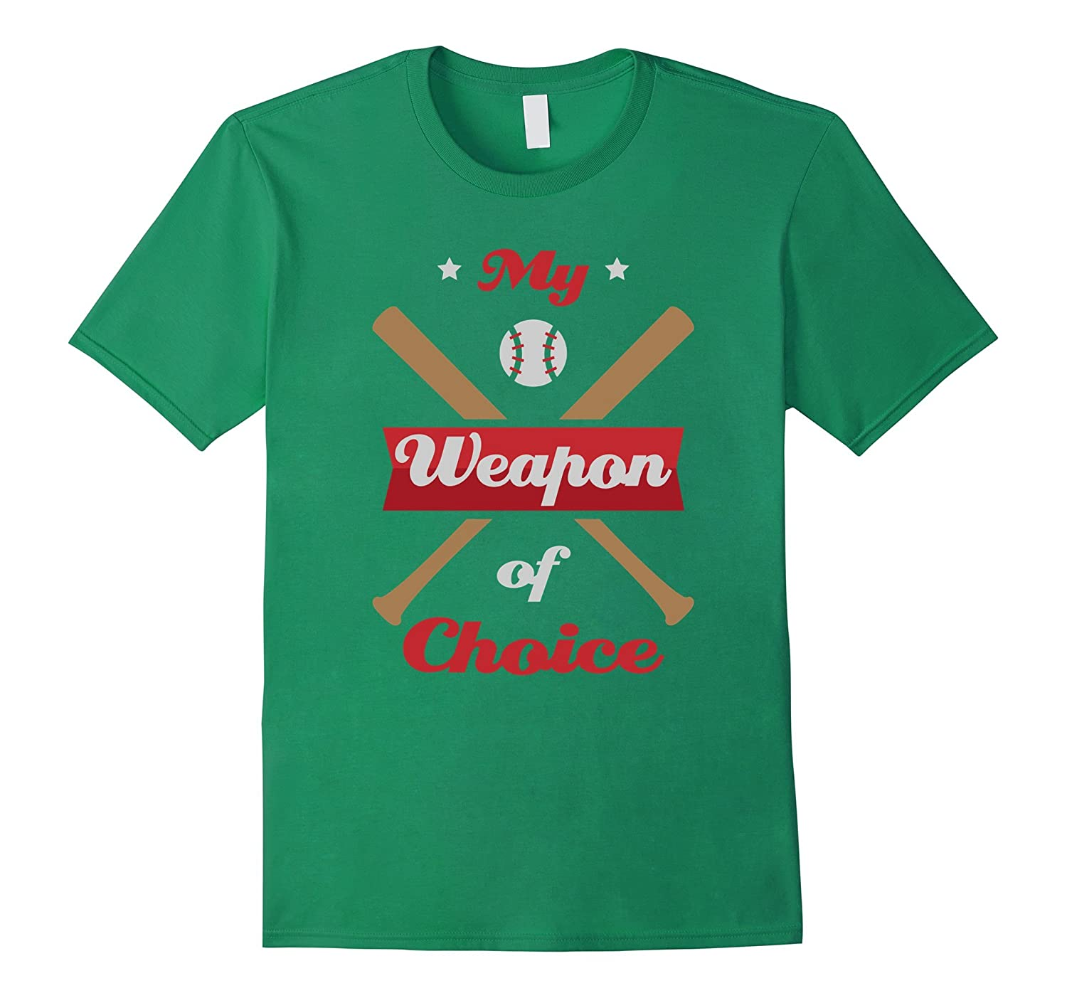 My Weapon of Choice Baseball Softball T-Shirt-CD
