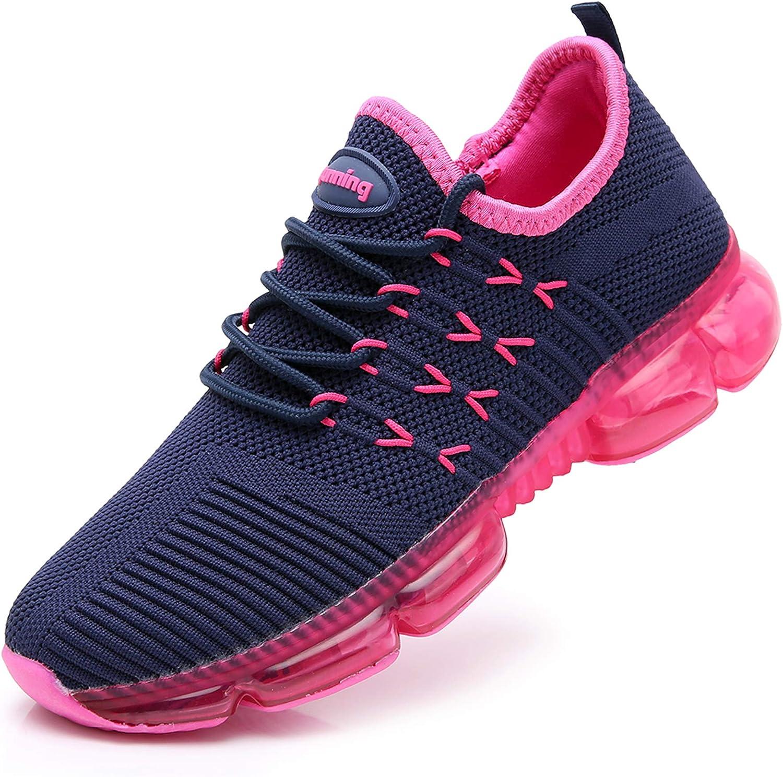 RomenSi Zapatillas de Tenis para Correr, para Mujer, Ligeras, Gruesas, para Gimnasio, Deporte, Entrenamiento, Fitness, Atletismo, Caminar, US5.5-10, (Azul, Red), 37.5 EU: Amazon.es: Zapatos y complementos