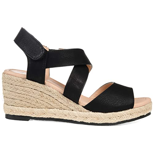 bf2d892bd2b Brinley Co Comfort Womens Ankle Strap Espadrille Wedge