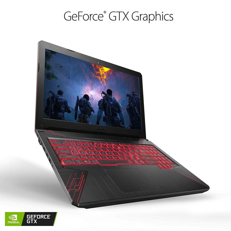 ASUS TUF Thin Light Gaming Laptop PC FX504 15.6 Full HD, 8th-Gen Intel Core i5-8300H GeForce GTX 1050 2GB, 8GB DDR4 2666 MHz, 1TB FireCuda SSHD, Windows 10 64-bit – FX504GD-ES51 Certified Refurb