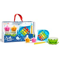 Munchkin Bath Beats Musical Bath Toy Gift Set, Includes Xylophone, Bath Drum & Shakers