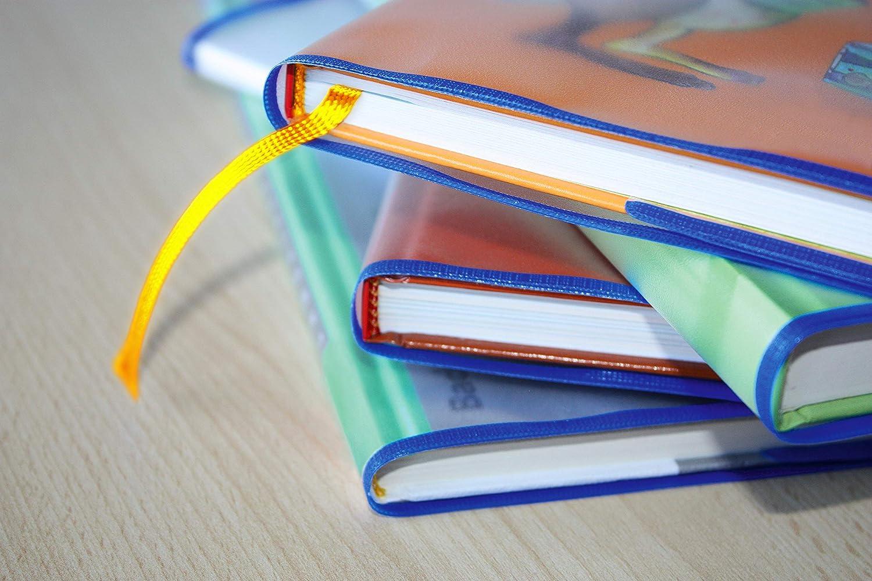 juego de 10 fundas para libros transparentes HERMA 7275 tama/ño 27,5 x 54 cm Sobres para libros con etiqueta de nombre de pl/ástico resistente