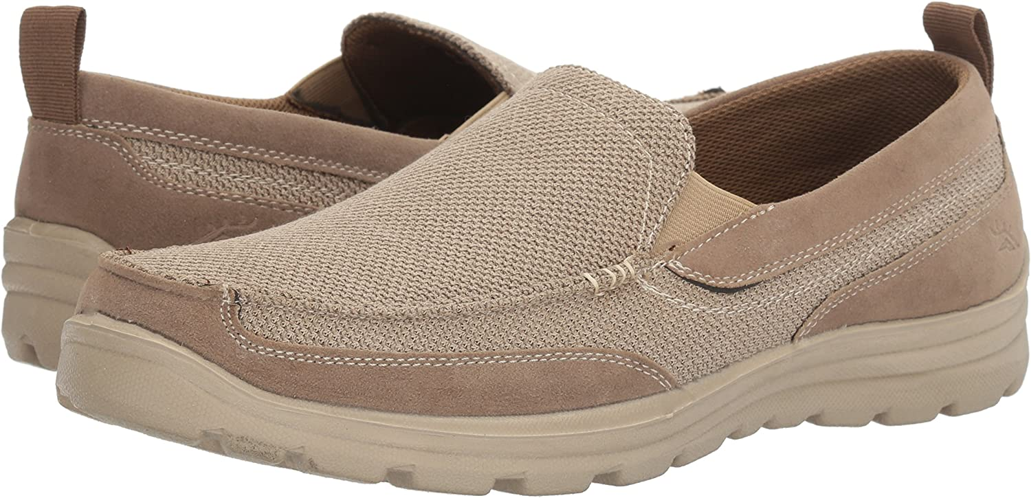 Deer Stags Fitz Men/'s Loafers Beige Casual Fashion Slip On Comfort Shoes
