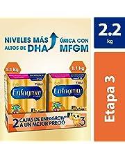 Leche de Crecimiento para Niños mayores de 12 Meses, Enfagrow Premium Etapa 3, En Polvo Paquete especial con 2 cajas de 1100  gramos cada una