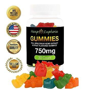 Full Spectrum Hemp Extract - 30 Count 750mg Hemp Oil Fruit Flavored Gummies  25mg each -