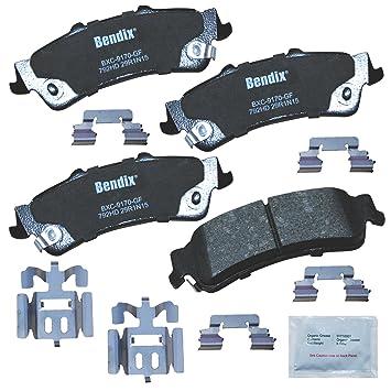 Bendix Premium Copper Free CFC1665 Premium Copper Free Ceramic Brake Pad with Installation Hardware Rear