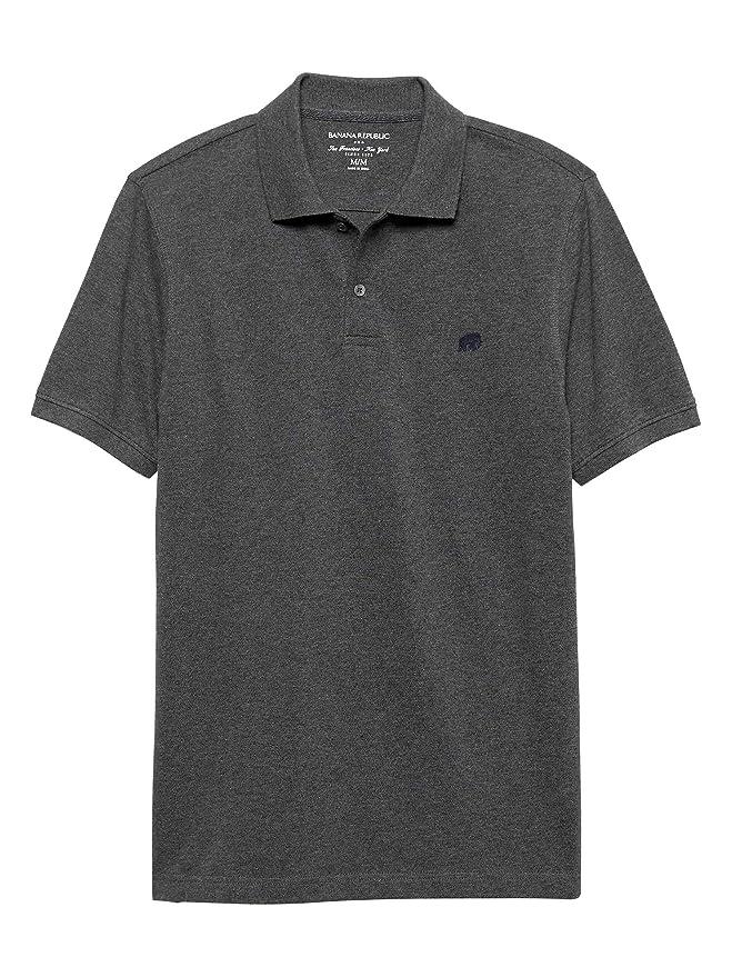 Banana Republic Factory Mens Classic Fit Polo Shirt Elephant Logo Short Sleeve at Amazon Mens Clothing store: