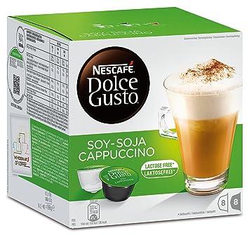 Nescafé Dolce Gusto soja capuchino, Café con leche de soja, soy Leche, libre de lactosa, Cápsulas de Café, 16 Cápsulas, (8 Raciones): Amazon.es: Hogar