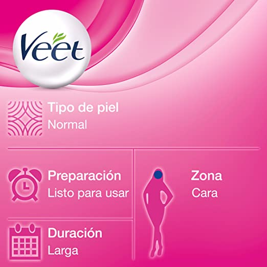 Veet Cera Fría Facial para Piel Normal - 20 Bandas: Amazon.es: Amazon Pantry
