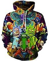 Hippie Hoodies 3d Hoodies Cartoon Rick and Morty Printed Women/Men Hip Hop Hoody Streetwear Hooded Sweatshirts