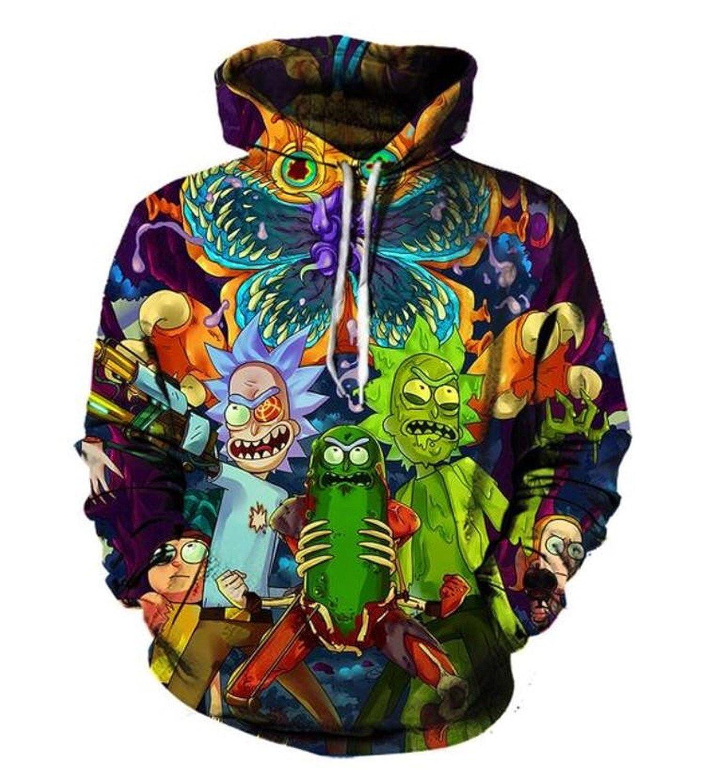 3D Hoodies Cartoon Rick and Morty Printed Women/Men Hip Hop Hoody Hooded Sweatshirts