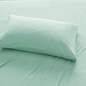 Urban Habitat Cold Weather Sheet Set Bedding 100% Cotton Ultra Soft, Queen, Aqua