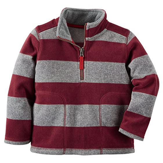 Amazon.com: Carter's Baby Boys' Half-Zip Fleece Pullover (3 Months ...