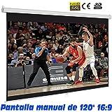 """Pantalla de proyeccion manual de 120"""" 16:9"""