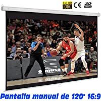 "Pantalla de proyeccion manual de 120"" 16:9"