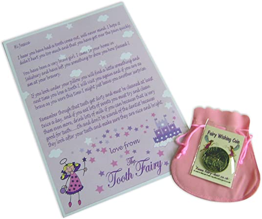 Busy Hands and Feet Personalised Mini Tooth Fairy Lilac Bag