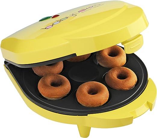 Amazon.com: Babycakes dn-6 Mini Donuts Maker, Amarillo, 6 ...