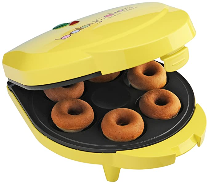Amazon.com: Babycakes dn-6 Mini Donuts Maker, Amarillo, 6 ...