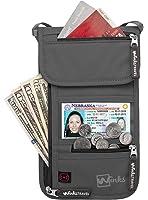 Travel Neck Wallet Passport Holder w/ RFID Blocking - Premium Traveling Pouch