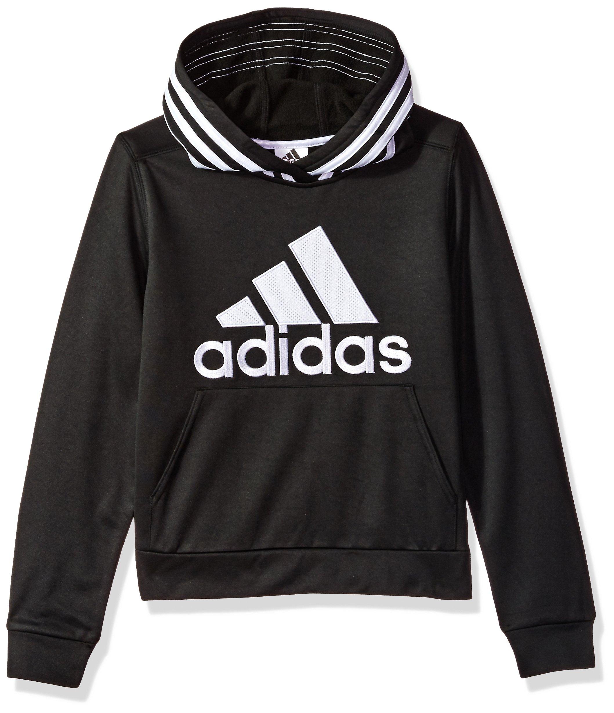 adidas Boys' Athletic Pullover Hoodie, Black, XL(18/20)