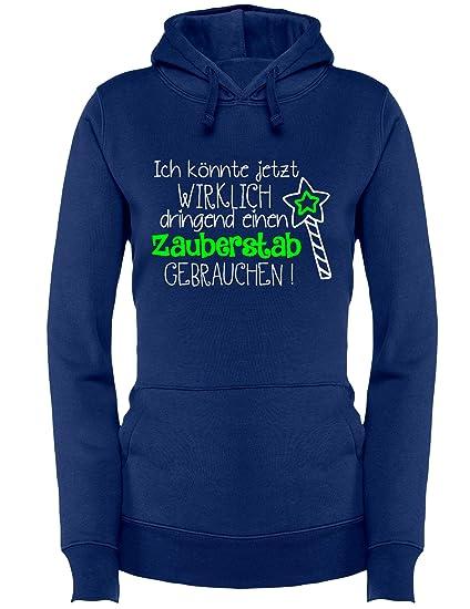Ich könnte wirklich dringend einen Zauberstab gebrauchen - Prinzessinnen  Motiv - Damen Hoodie: Amazon.de: Bekleidung