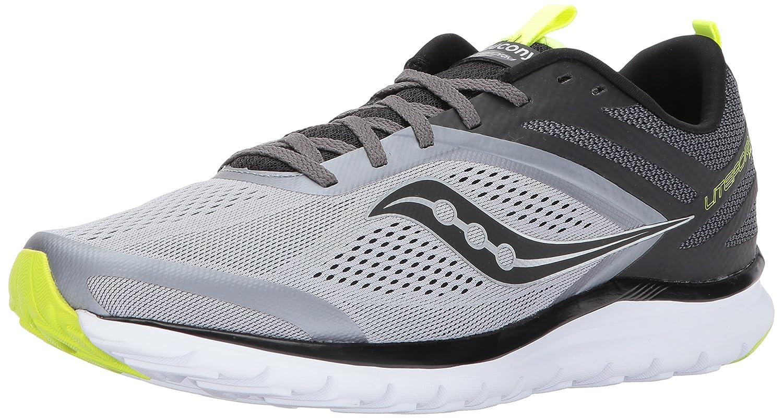 Grey  Black  Citron 7.5 D(M) US Saucony Mens Liteform Miles Running shoes