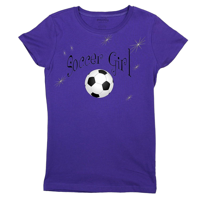 1eb5809c620 Amazon.com: Miolu Youth Girls - Soccer Girl - T-Shirt: Clothing